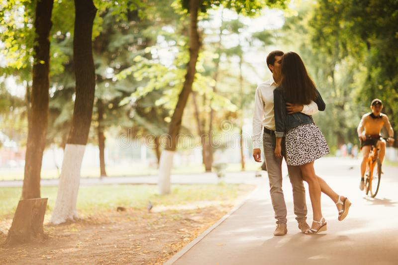 Download Black And White Photo Beautiful Young Couple In The Park Stock Image - Image of male, outdoor: 101089895
