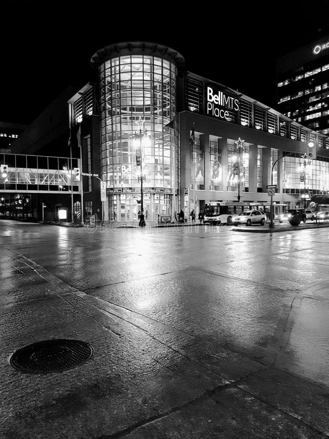 Black and White Photo of the Building royalty free stock photography