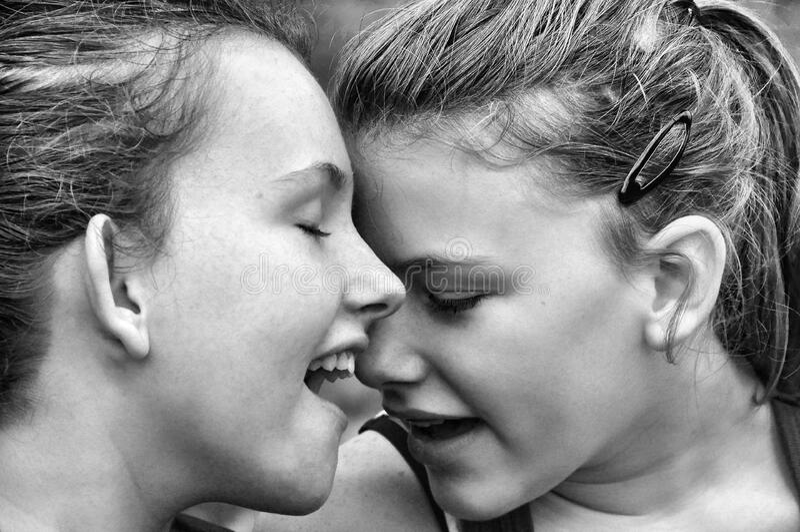 Black And White Photo Of Women royalty free stock photos