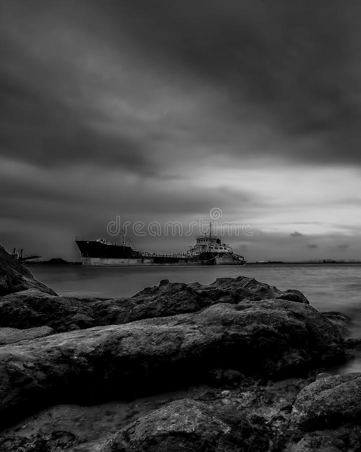 Black and white Photos at Batam Bintan Islands. Blackwhite Photos at Batam Bintan Islands royalty free stock photo