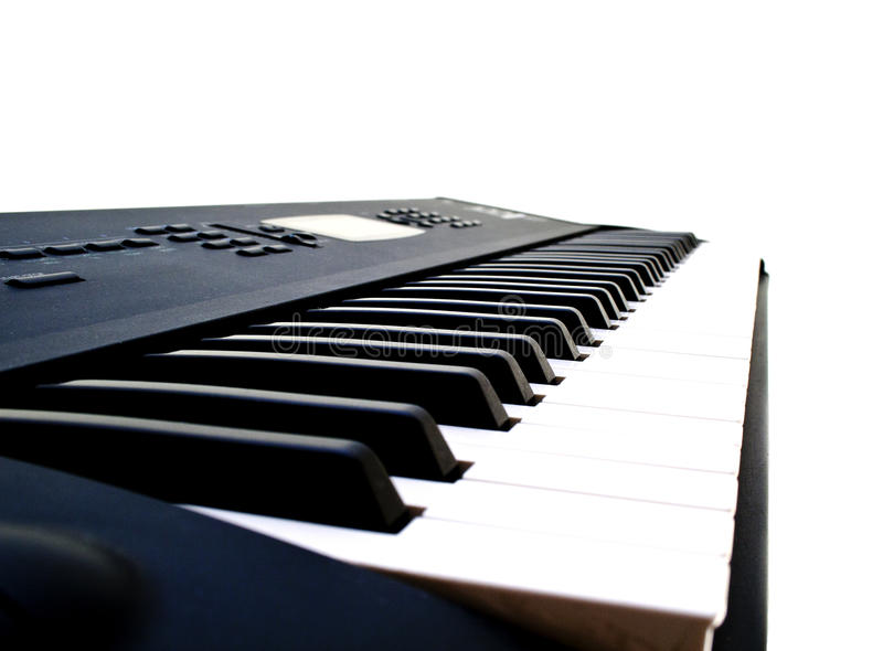 Black and white piano key. Musical instrument royalty free stock image