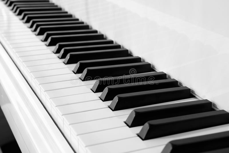 Black and White piano keyboard stock images