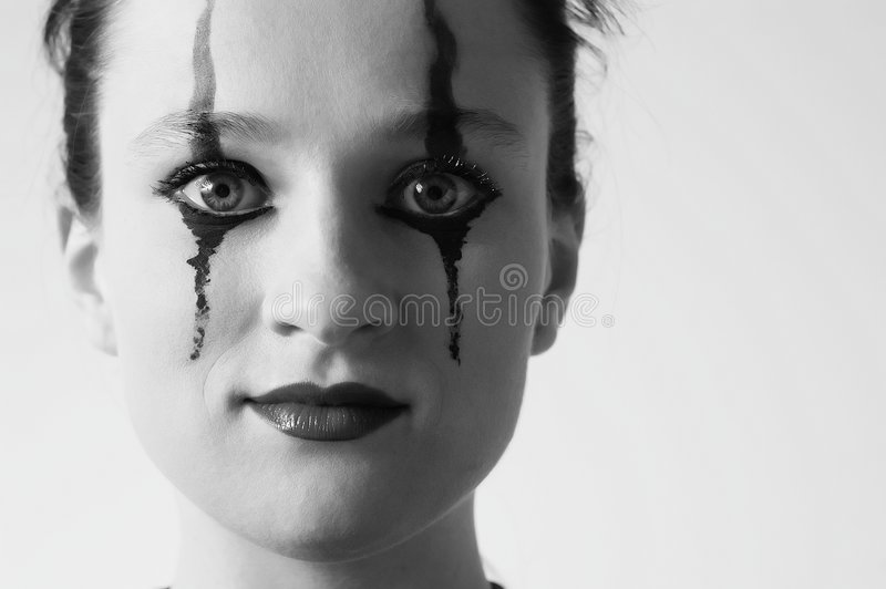 Download Black and white picture stock photo. Image of dress, strange - 149504