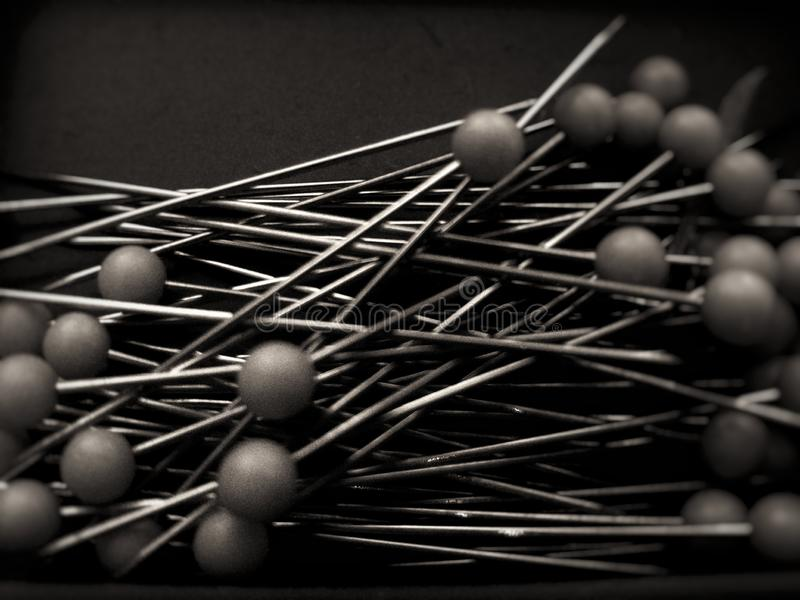 Black and white pins royalty free stock images