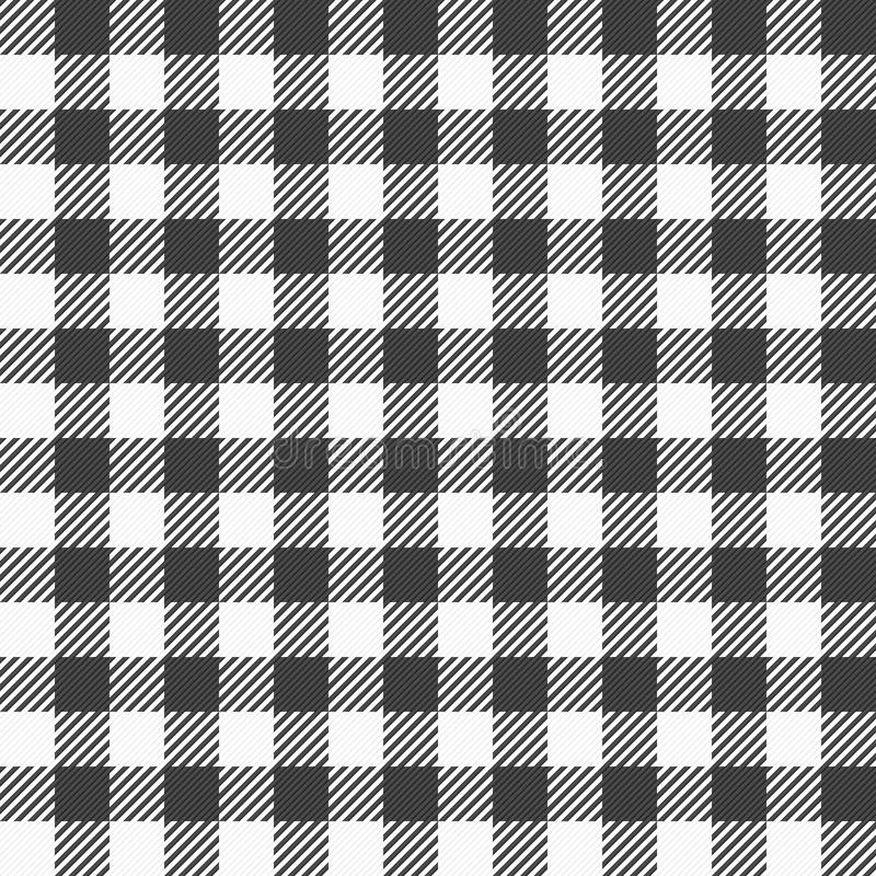 Download Black And White Plaid Tablecloth Stock Vector   Illustration Of  Retro, Detail: 66766310
