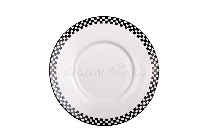 Black and white plate isolated royalty free stock image