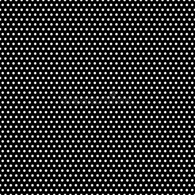 Black and White Polka Dots Pattern royalty free illustration
