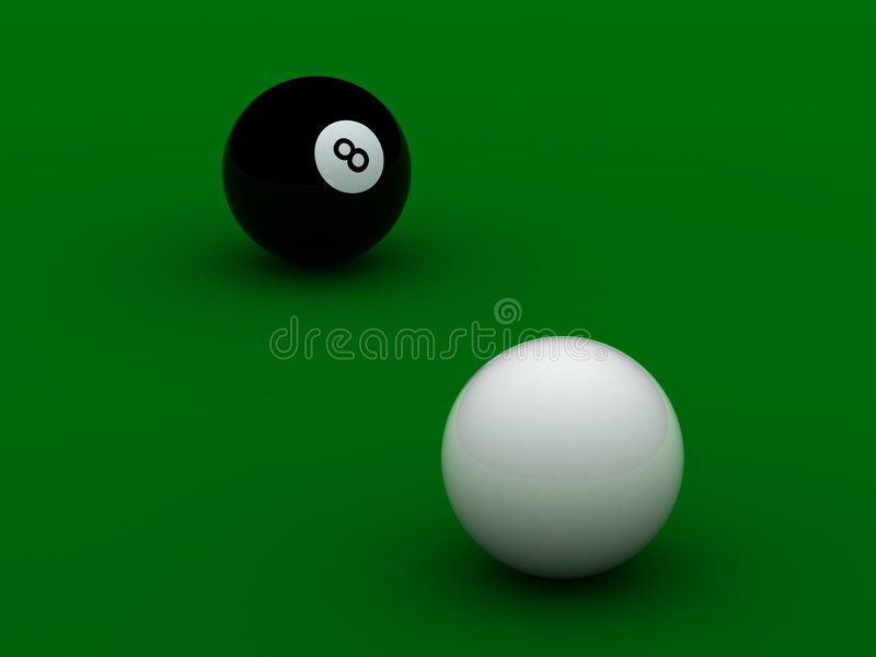Download Black and white pool balls stock illustration. Illustration of ball - 7690119