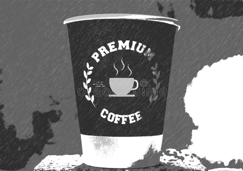Coffee cup poster stock illustration
