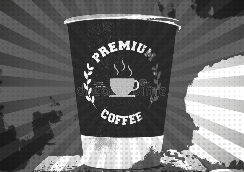 Coffee cup poster royalty free illustration