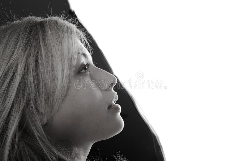 Download Black-and-white portrait stock image. Image of horizontal - 19426391