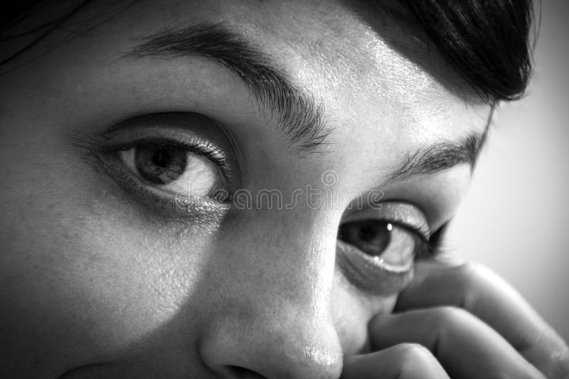 Black and white portrait royalty free stock images