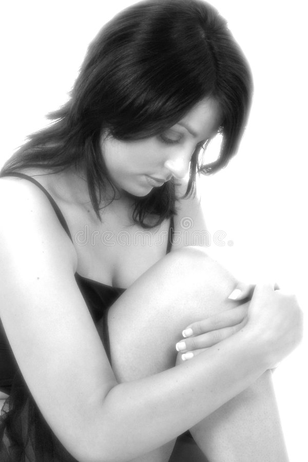 Black & White Portrait stock image