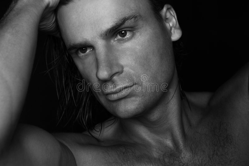 Black and white portrait stock photos