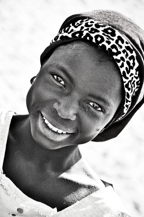 Download black and white portrait of african girl editorial photography image of mara bead