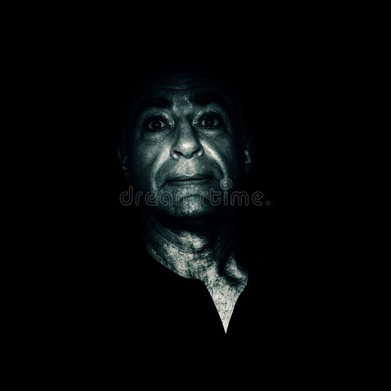 Black and white portrait of an aging man keeping past beauty with sad eyes. Black and white portrait of an aging man keeping the remnants of past beauty with sad royalty free stock photo