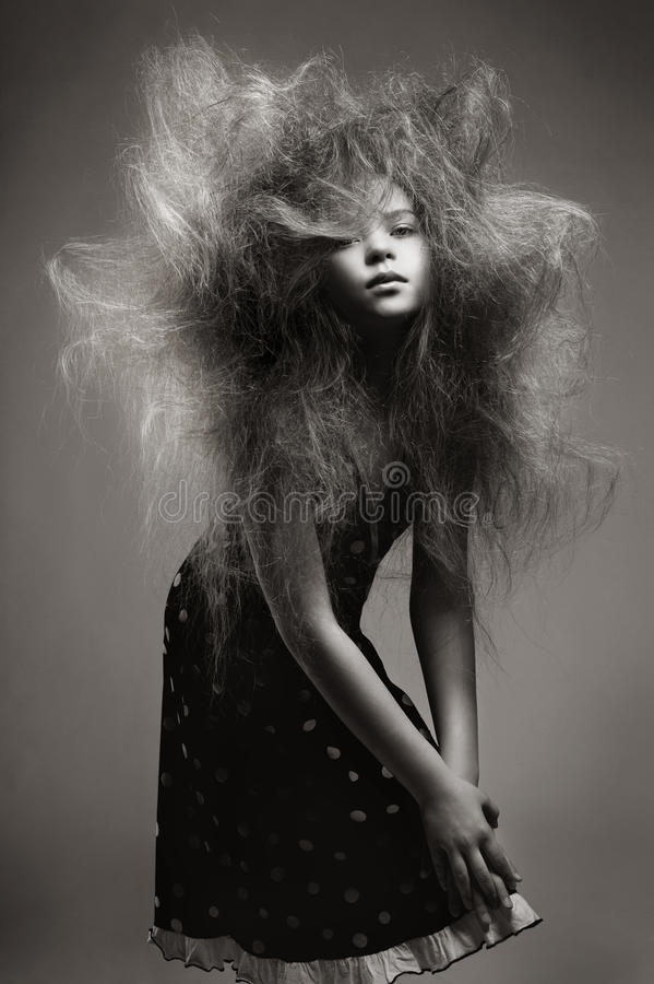 Download Young Girl With A Volume Fashionable Hairstyle Stock Photo - Image: 29746508