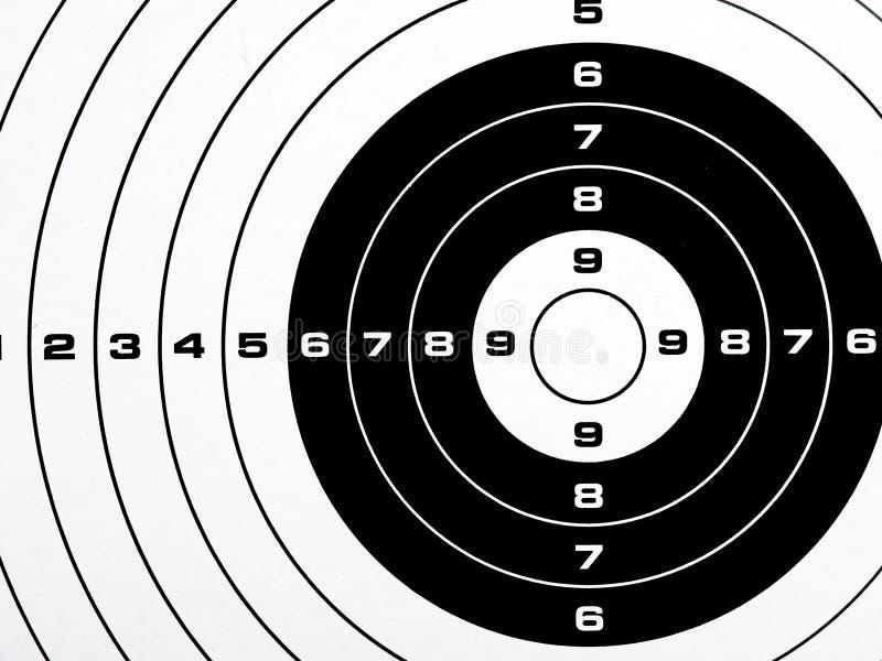 Black and white printed shooting target royalty free stock photos