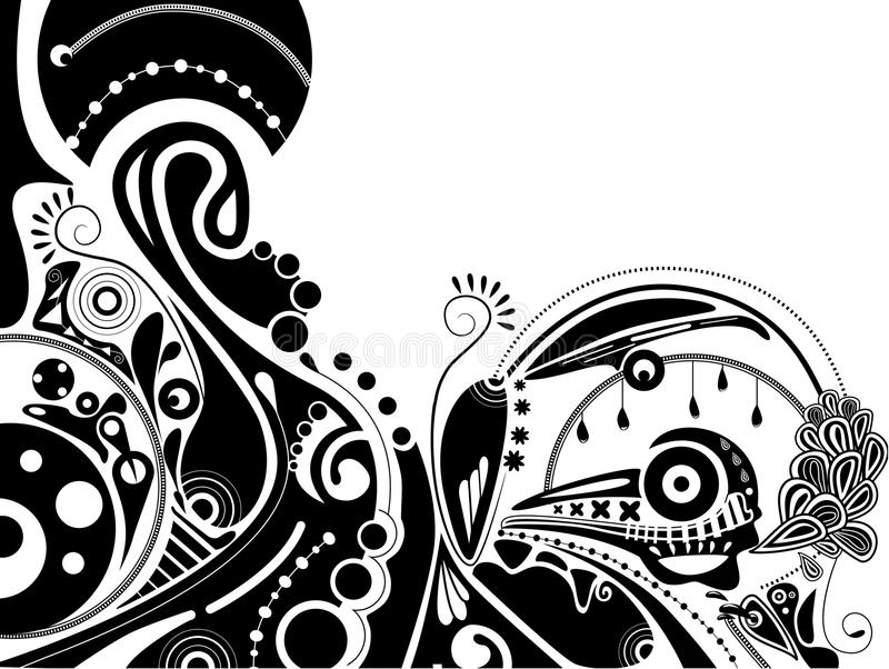 Download Black-and-white Psychedelic Illustration Stock Vector - Illustration: 17540254