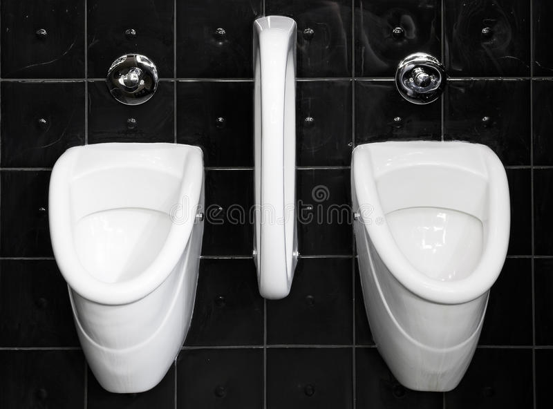 Black And White Public Restroom Royalty Free Stock Images