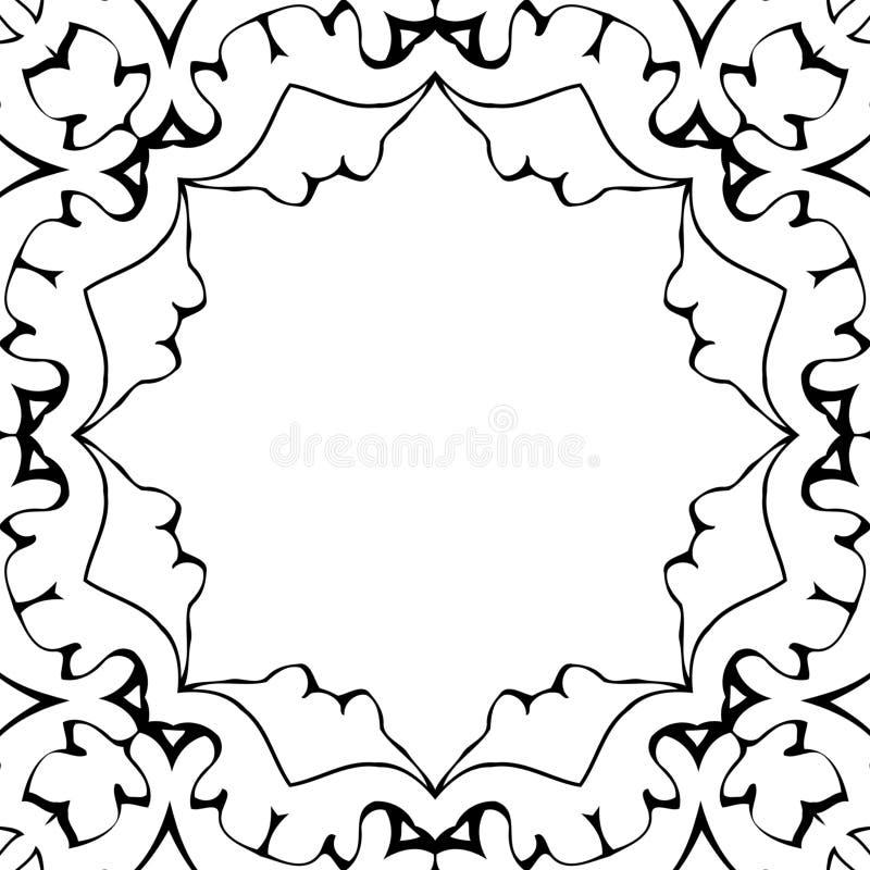 Black&White-Rahmen stockbild