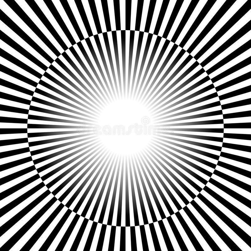 Black and white Rays, starburst background with alternating, che royalty free illustration