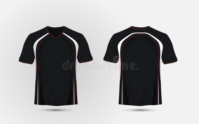 Black and white red layout sport t shirt kits jersey shirt download black and white red layout sport t shirt kits jersey maxwellsz