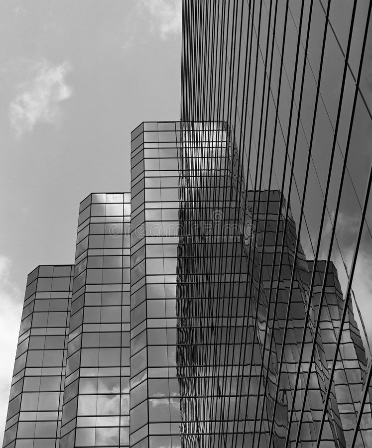 Black and White reflection royalty free stock photography