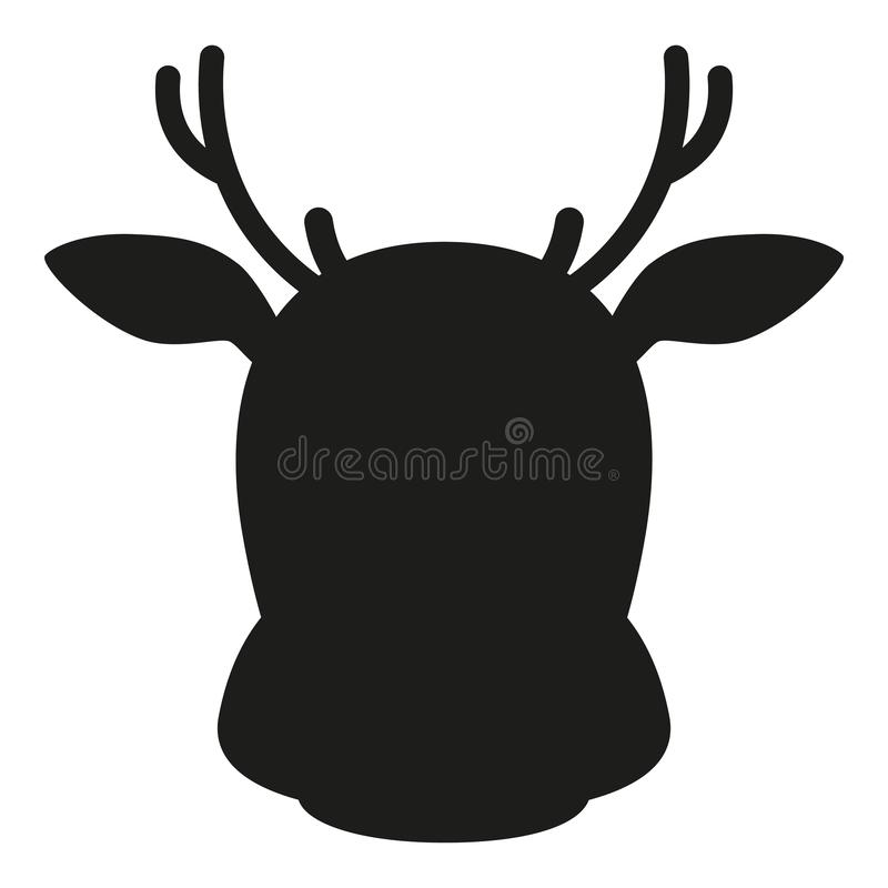 Simple Reindeer Silhouette stock illustration ...