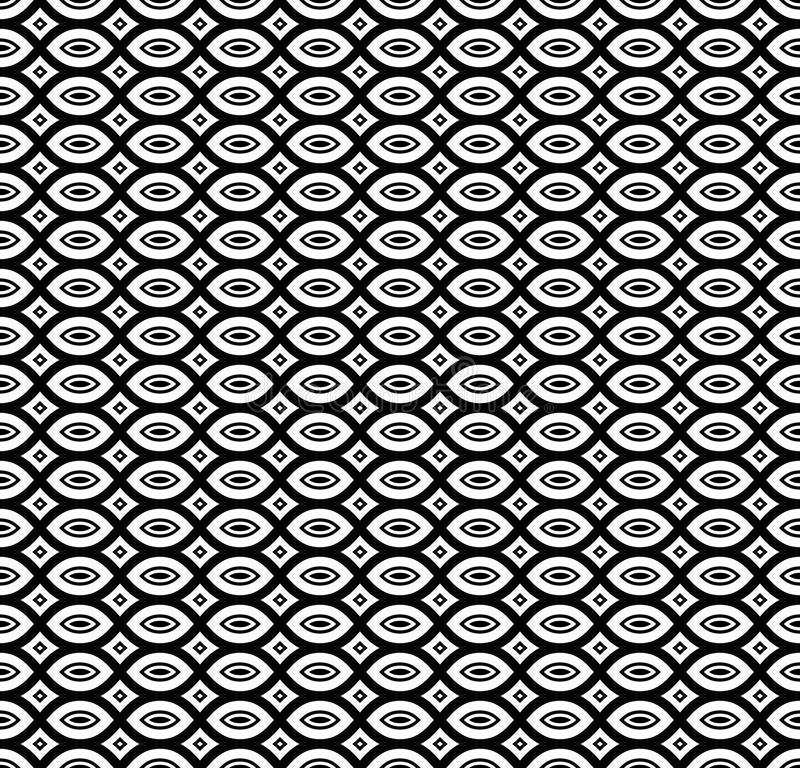 Black & white repeat ornamental texture vector illustration