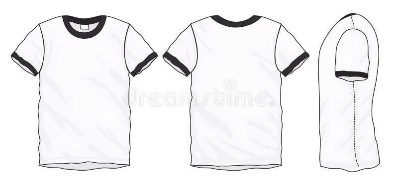 black white ringer t shirt design template stock vector image 92271753. Black Bedroom Furniture Sets. Home Design Ideas