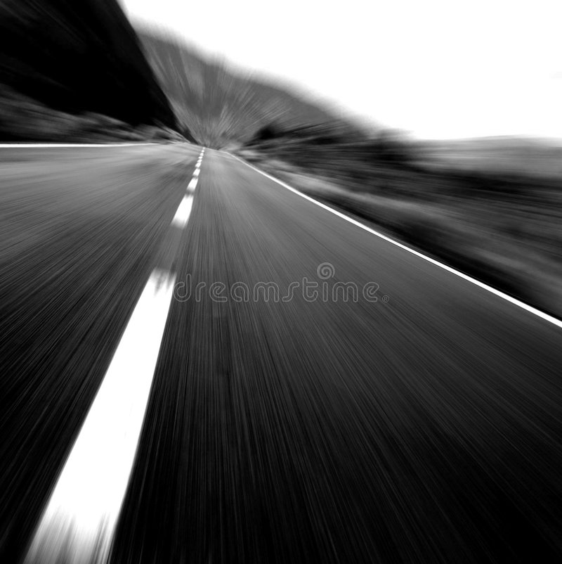 Black & White Risky Speed !! stock image