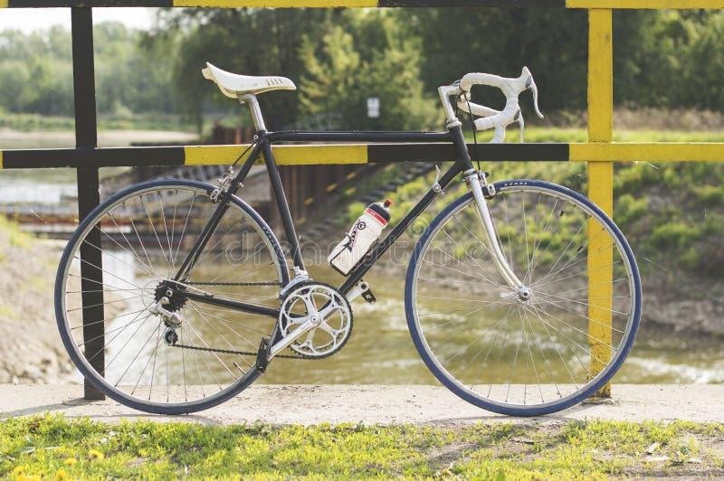 Black and White Road Bike royalty free stock photo