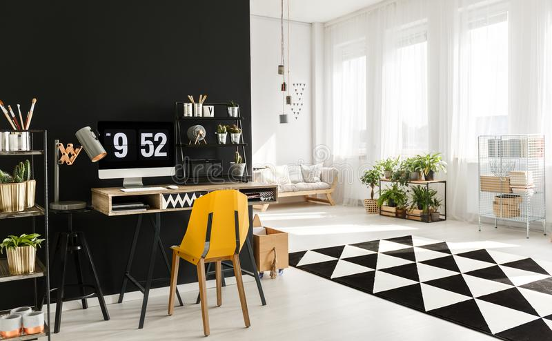 Black and white room royalty free stock photos