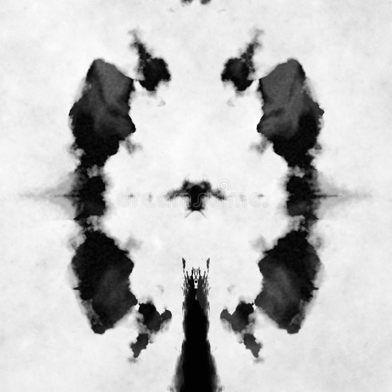 Black and white Rorschach test. Illustration of a typical black and white Rorschach test vector illustration