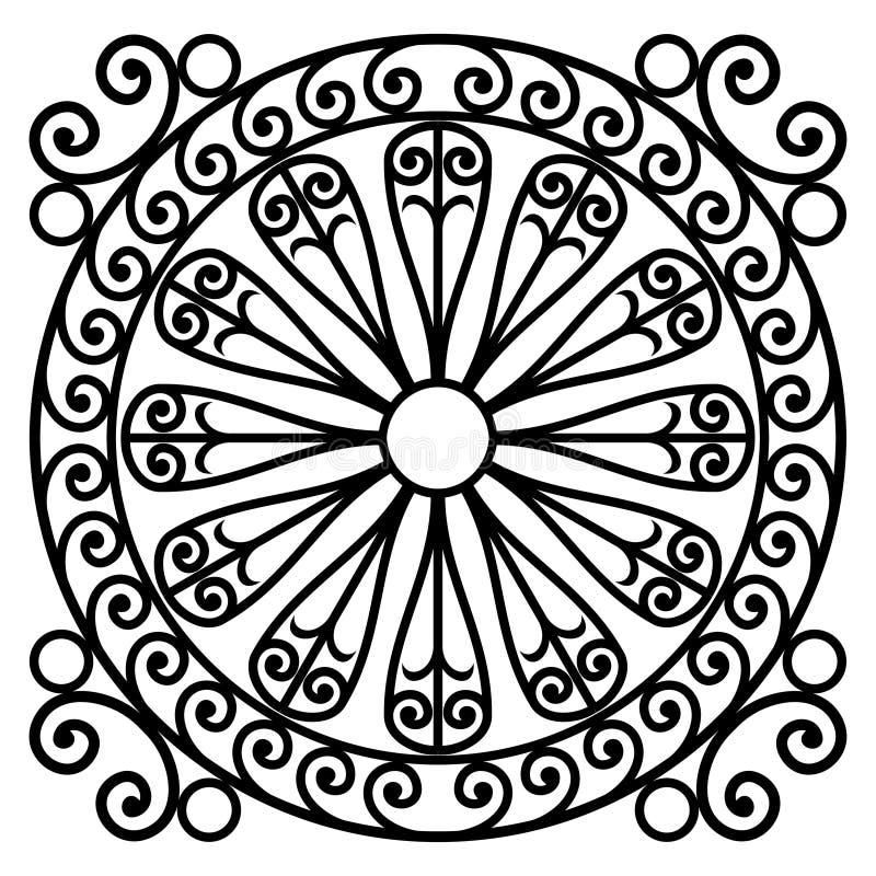 Black and white rosette design royalty free illustration