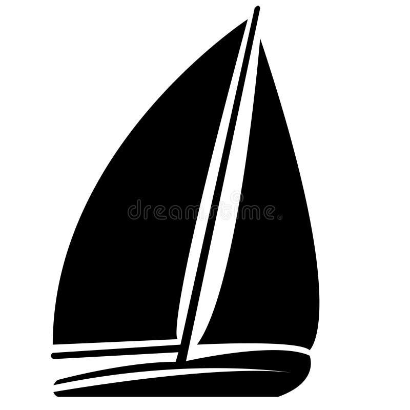 Free Black & White Round Sail Boat Silhouette Stock Image - 183655101