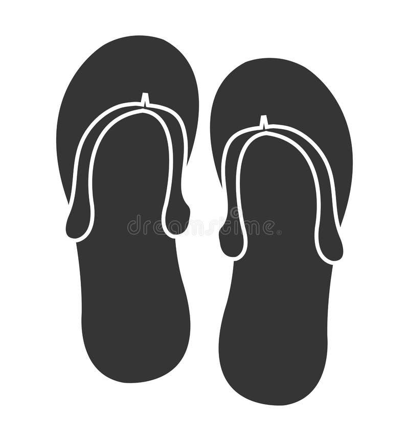 Black White Sandals Stock Illustrations