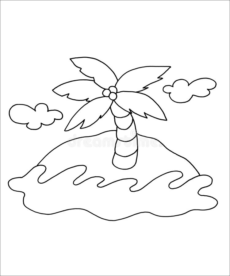 Download Black and white - Sea stock illustration. Image of white - 12543607