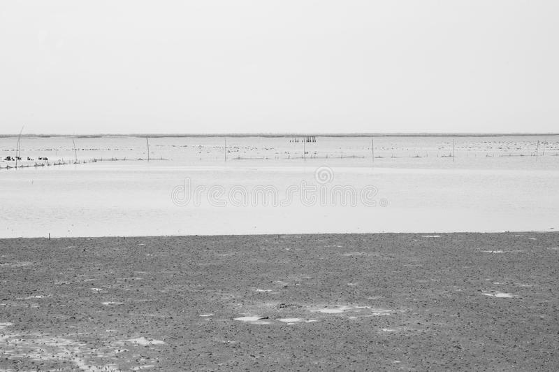 Black and white sea background royalty free stock photography