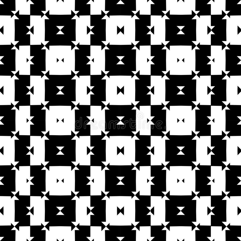 Black and White Seamless Check Pattern vector illustration