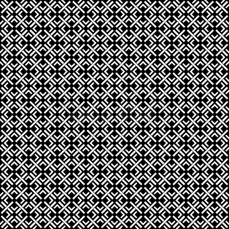 Black and white SEAMLESS GEOMETRIC PATTER, BACKGROUND DESIGN. Modern stylish texture. Repeating and editable.Can be used for print. Black and white SEAMLESS stock illustration