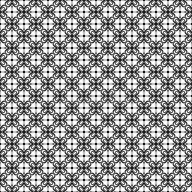 Black and white SEAMLESS GEOMETRIC PATTER, BACKGROUND DESIGN. Modern stylish texture. Repeating and editable.Can be used for print. Black and white SEAMLESS royalty free illustration