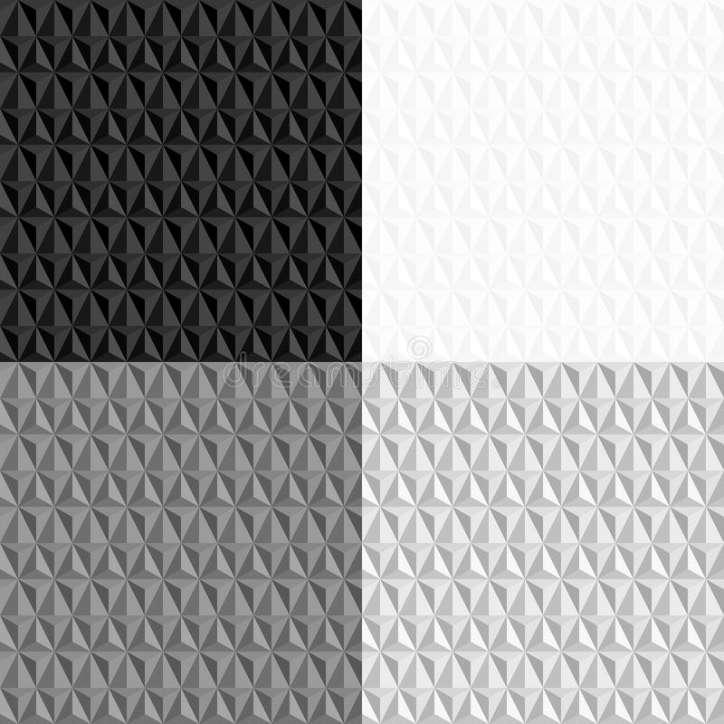 Black and white seamless geometric pattern vector illustration