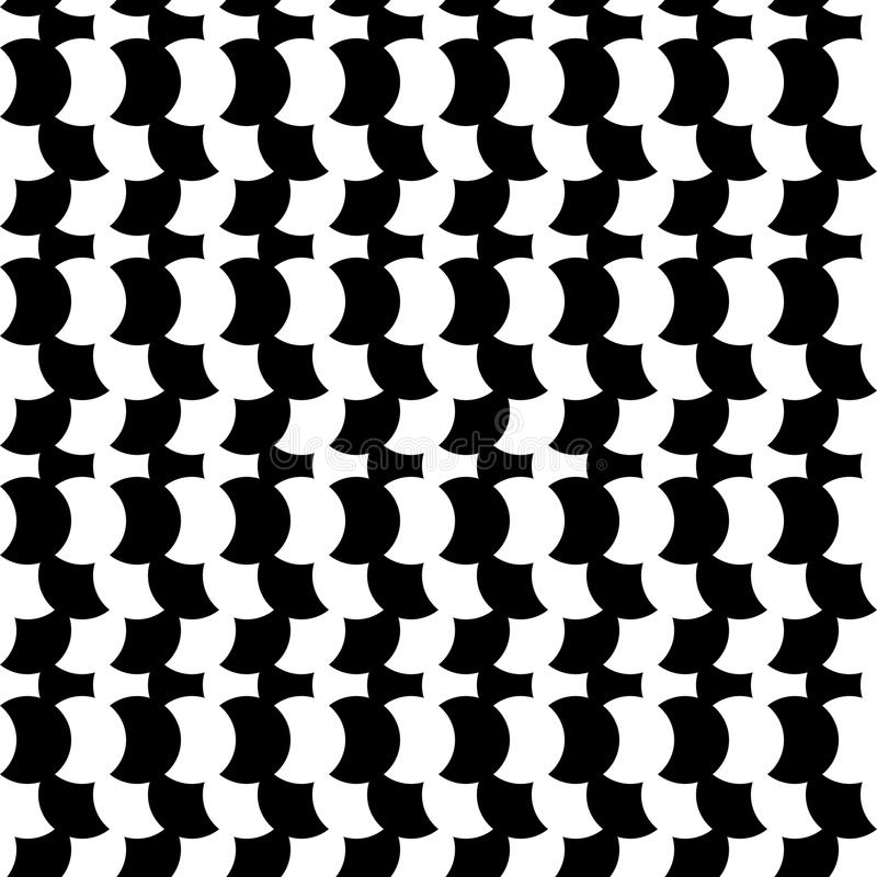 Black and white seamless geometric pattern. Repeatable texture royalty free illustration