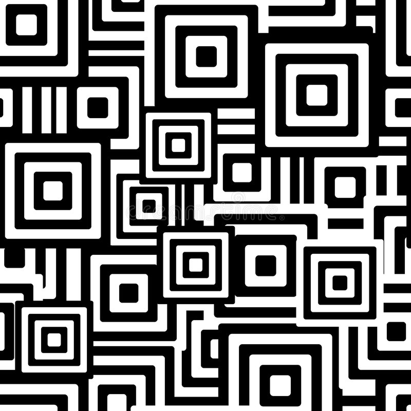 Download Black And White Seamless Pattern Stock Vector - Illustration of elements, revival: 4589884