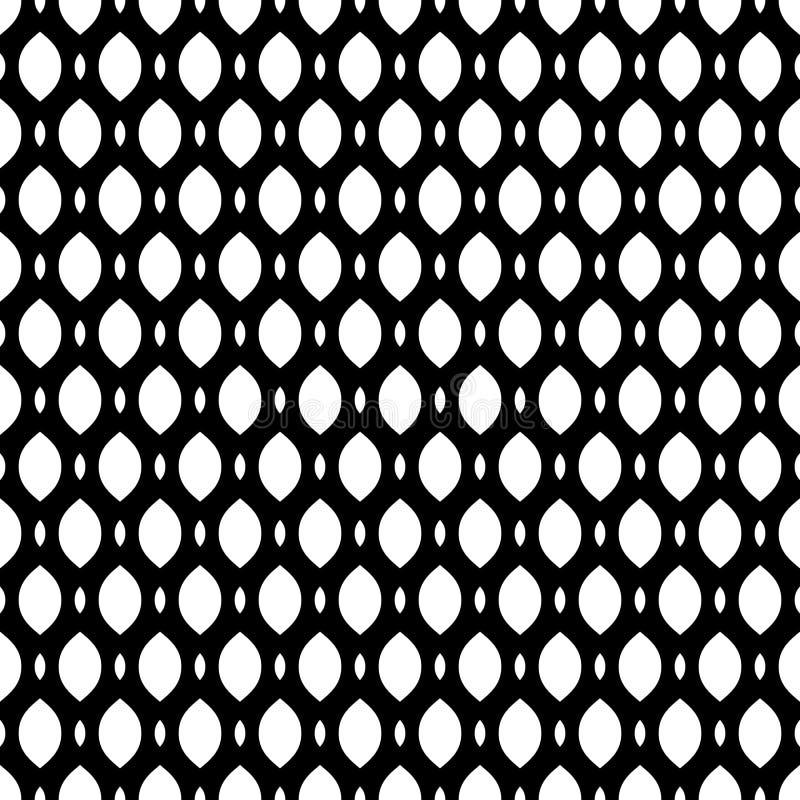 Black & white seamless pattern, mesh, lattice. Vector monochrome seamless pattern, simple black & white geometric texture, illustration on mesh, lattice, tissue royalty free illustration