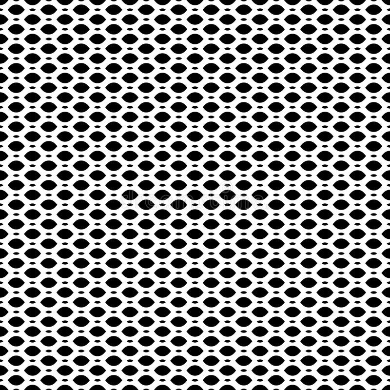 Black & white seamless pattern, mesh, lattice. Vector seamless pattern, simple black & white geometric texture, monochrome illustration on mesh, lattice, tissue royalty free illustration