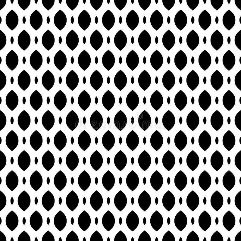 Black & white seamless pattern, mesh, lattice. Vector seamless pattern, simple monochrome black & white geometric texture, illustration on mesh, lattice, tissue royalty free illustration