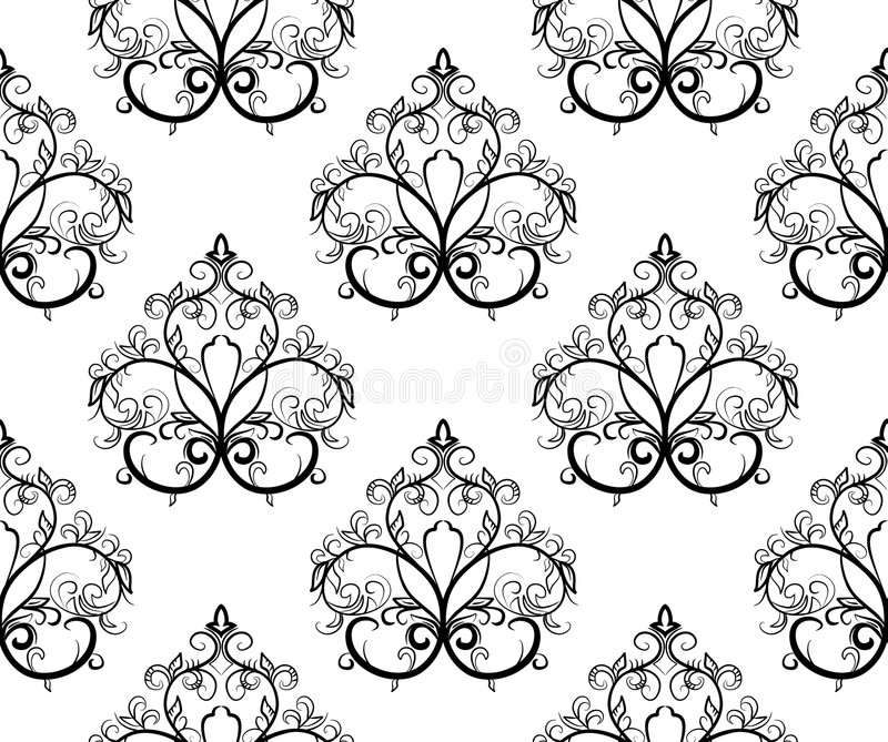 Download Black-and-white Seamless Pattern. Vector Illustrat Royalty Free Stock Photo - Image: 6071015